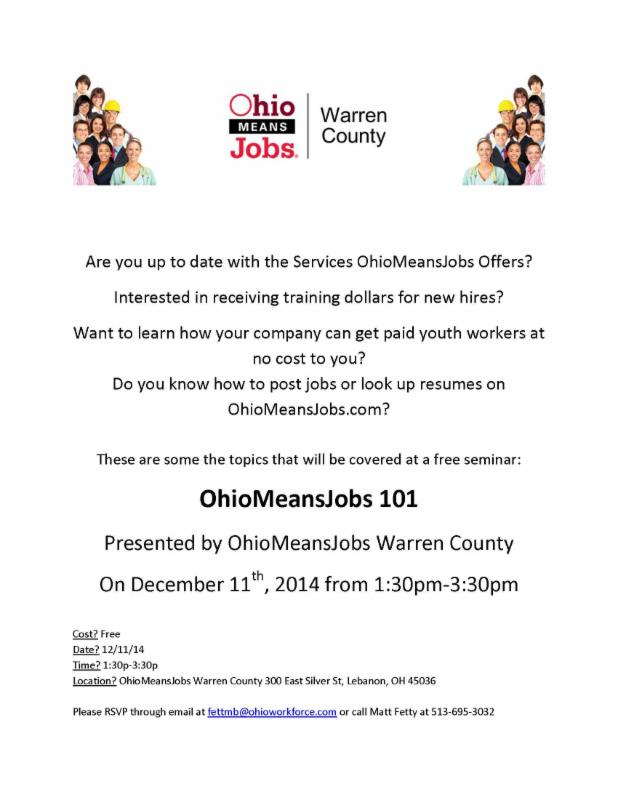 Seminar Ohio Means Jobs 101