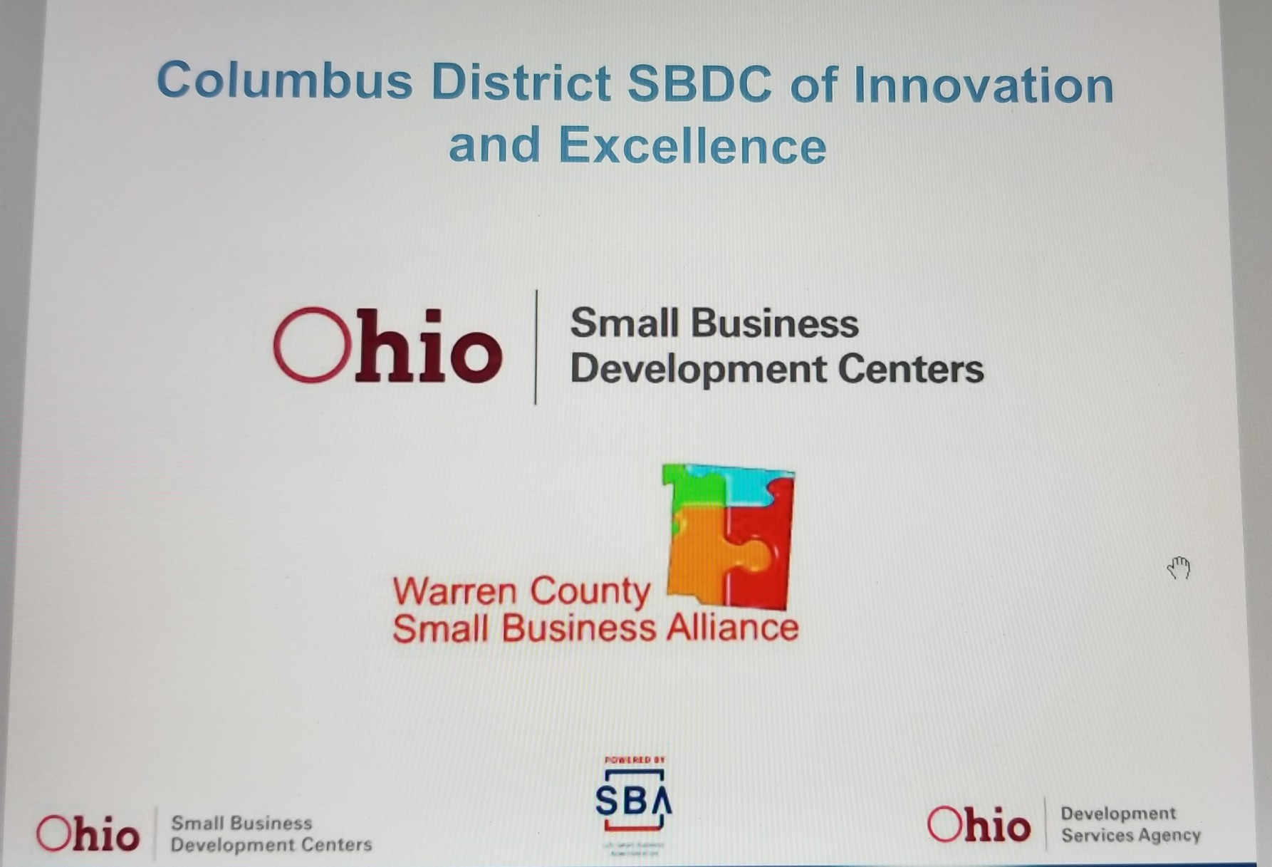 Columbus District SBDC of Innovation and Excellence Award